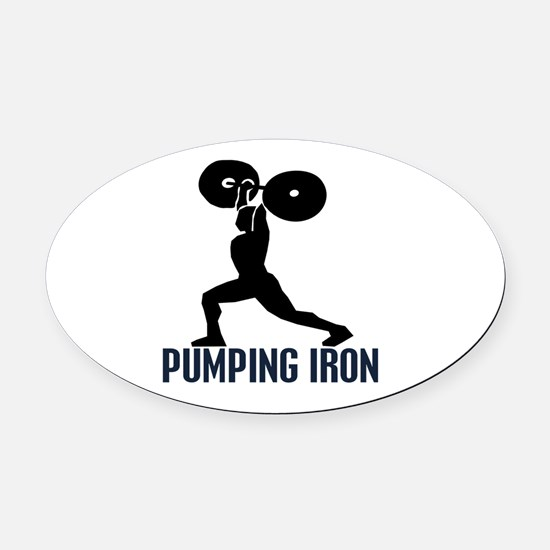 pumping_iron Oval Car Magnet