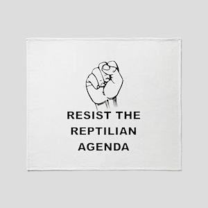 Resist The Reptilian Agenda Throw Blanket