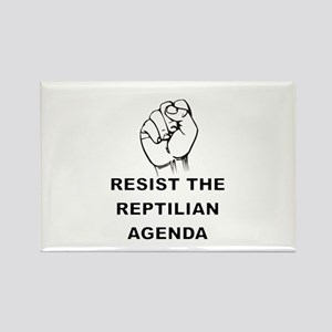 Resist The Reptilian Agenda Magnets