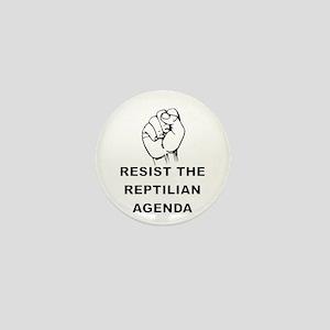 Resist The Reptilian Agenda Mini Button
