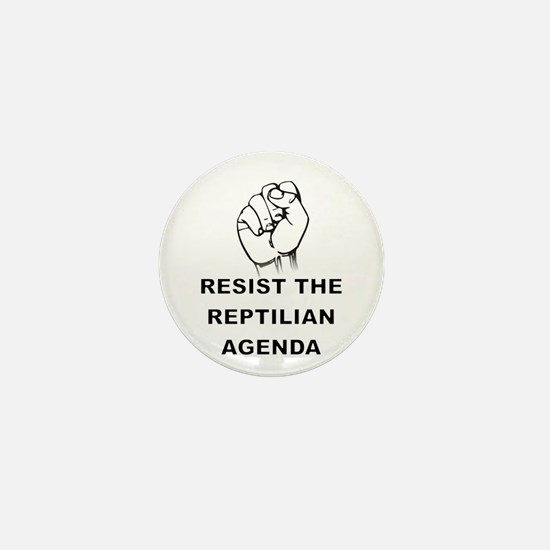 Resist The Reptilian Agenda Mini Button