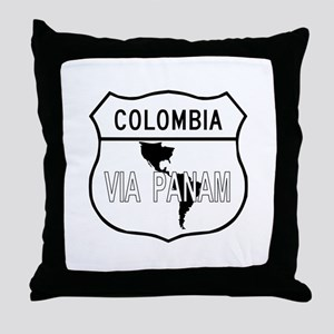 Pan-American Highway, Colombia Throw Pillow