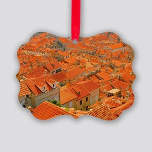 Croatia Buildingtops Picture Ornament