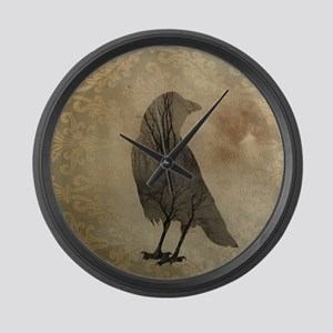 Vintage Corvidae Large Wall Clock