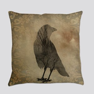 Vintage Corvidae Everyday Pillow