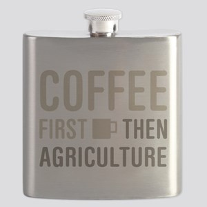 Coffee Then Agriculture Flask