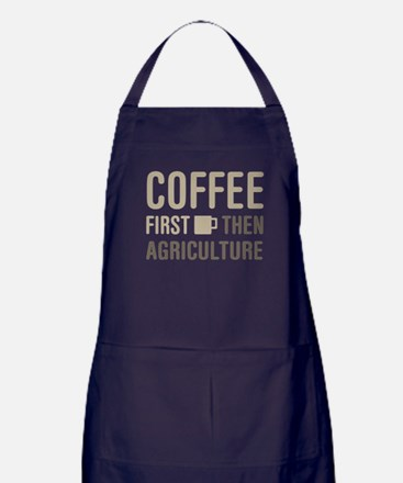 Coffee Then Agriculture Apron (dark)