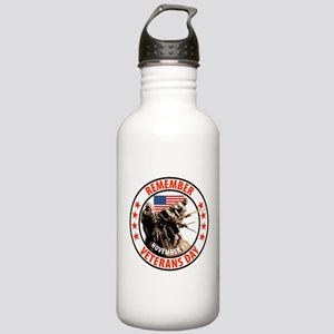 Remember Veterans Day, November 11 Water Bottle