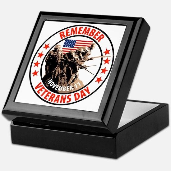 Remember Veterans Day, November 11 Keepsake Box