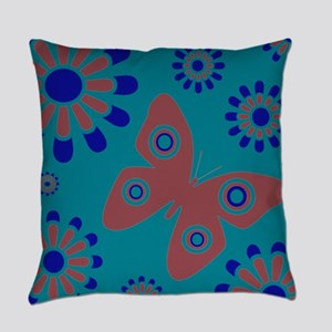 Whimsical Butterfly Floral Everyday Pillow