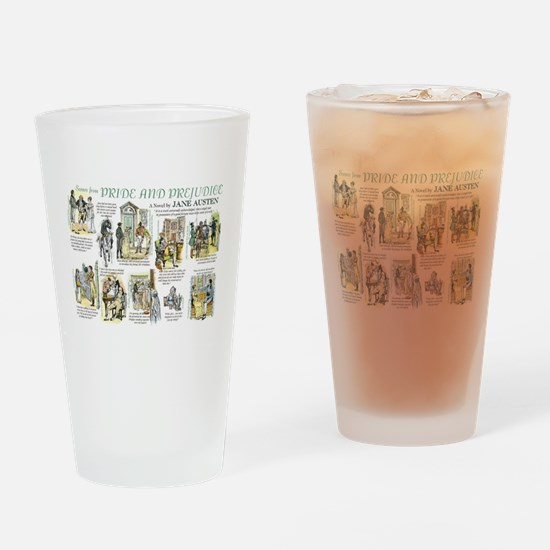 Scenes from Pride and Prejudice Drinking Glass