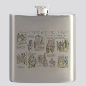 Scenes from Pride and Prejudice Flask