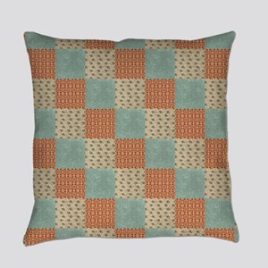 Floral Patchwork Pattern Everyday Pillow