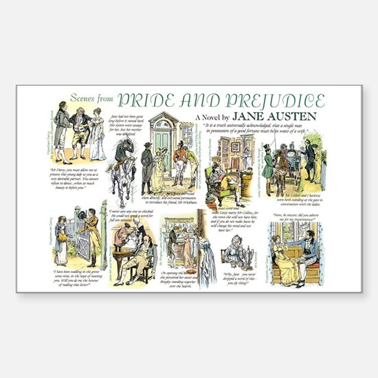 Scenes from Pride and Prejudice Decal