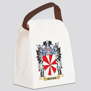 Henson Coat of Arms - Family Cres Canvas Lunch Bag