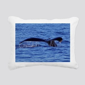 Humpback Whale Tail Maui Rectangular Canvas Pillow