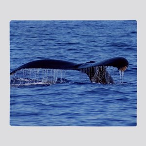Humpback Whale Tail Maui Throw Blanket