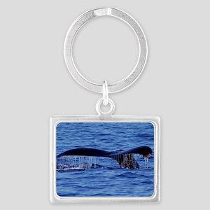 Humpback Whale Tail Maui Landscape Keychain