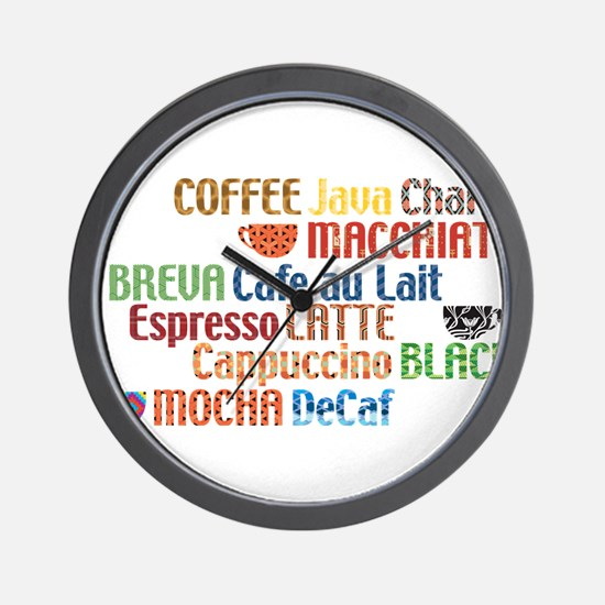 Coffe collage Wall Clock