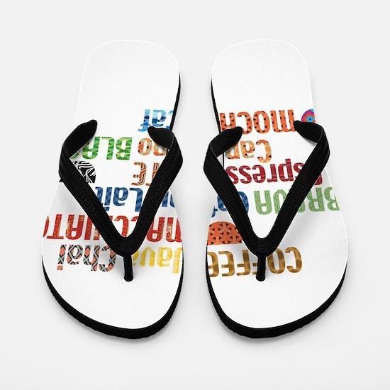 Coffe collage Flip Flops