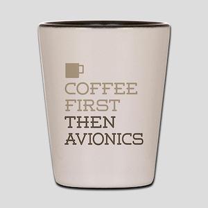 Coffee Then Avionics Shot Glass