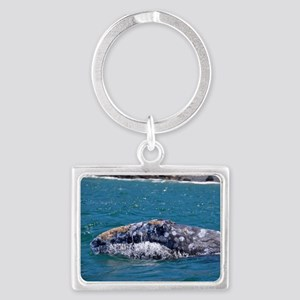 Gray Whale Landscape Keychain