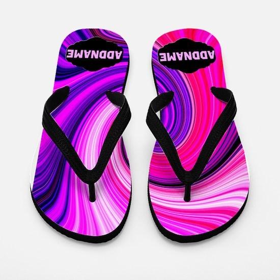 Pink Swirling Flip Flops