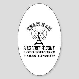 Team Ham Sticker (Oval)