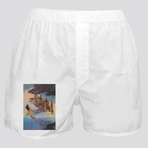 Dinky Bird by Maxfield Parrish Boxer Shorts