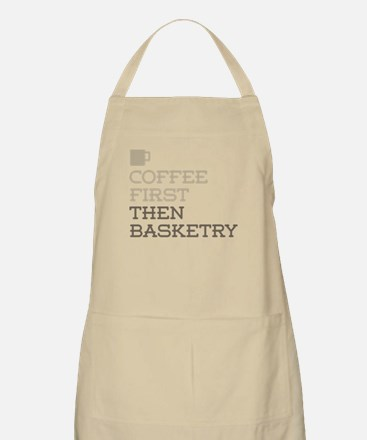 Coffee Then Basketry Apron
