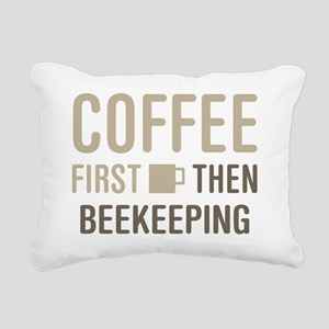 Coffee Then Beekeeping Rectangular Canvas Pillow