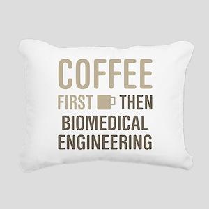 Coffee Then Biomedical E Rectangular Canvas Pillow