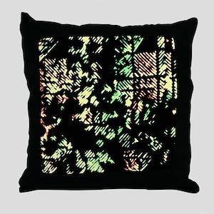 Disrupted Diagonals Throw Pillow