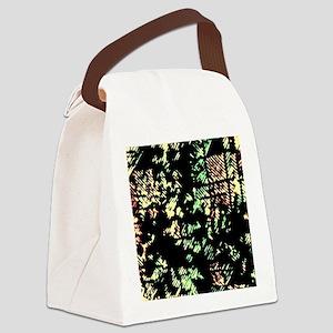Disrupted Diagonals Canvas Lunch Bag