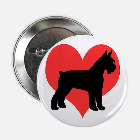 Red Heart Schnauzer Button