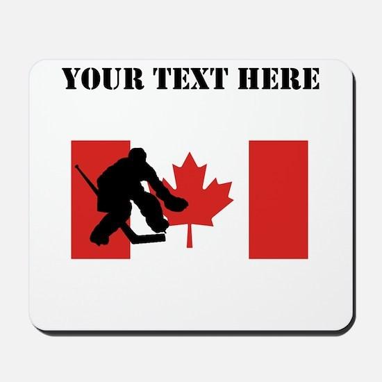 Hockey Goalie Canadian Flag Mousepad