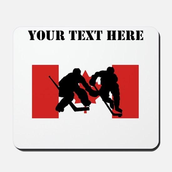 Hockey Players Canadian Flag Mousepad