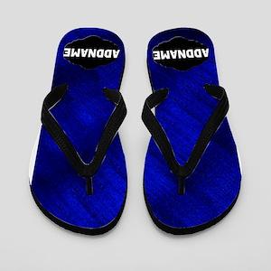 Blue And Black Flip Flops