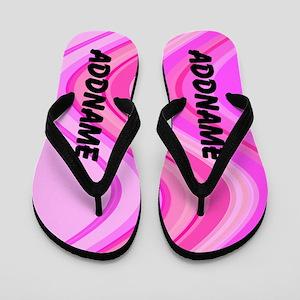 Pink Swirl Flip Flops
