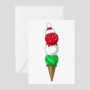 Christmas Ice Cream Greeting Card