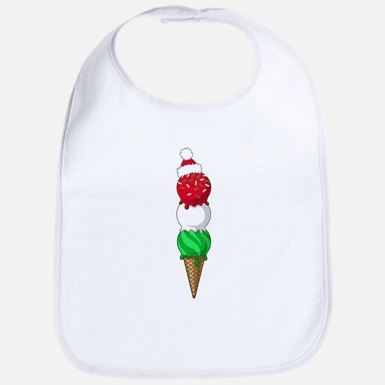Christmas Ice Cream Bib