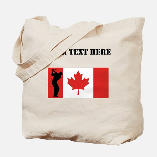 Golf Shot Canadian Flag Tote Bag