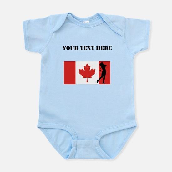 Woman Golfer Canadian Flag Body Suit