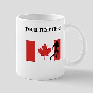 Running Back Canadian Flag Mugs