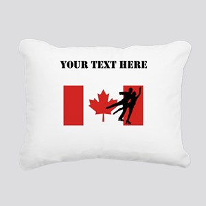 Figure Skaters Canadian Flag Rectangular Canvas Pi