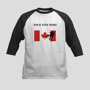 Figure Skaters Canadian Flag Baseball Jersey