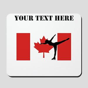 Figure Skater Canadian Flag Mousepad
