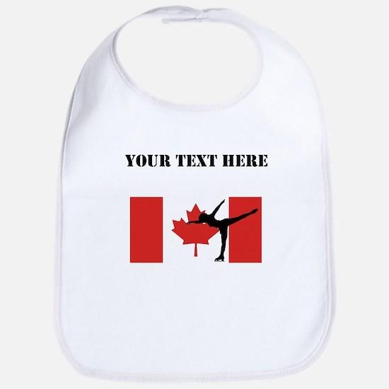 Figure Skater Canadian Flag Bib
