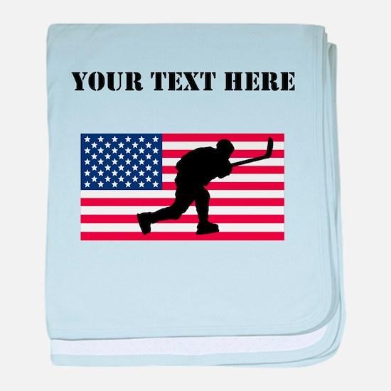 Slap Shot American Flag baby blanket