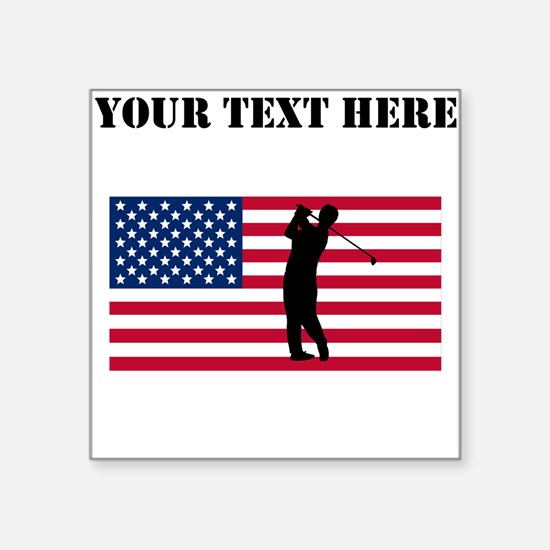 Golfer American Flag Sticker